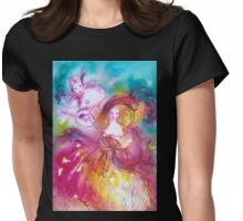 PIERROT AND ARLECCHINA Venetian Carnival Masks Womens Fitted T-Shirt