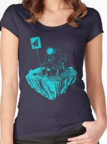 Waiting for my rocket bus Women's Fitted Scoop T-Shirt