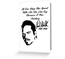 Smiling Paul Walker Greeting Card