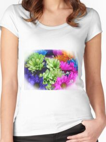 Painted Daisies Women's Fitted Scoop T-Shirt