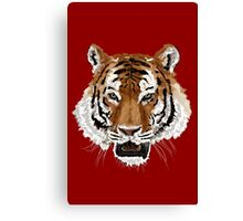 Tiger (Red) Canvas Print