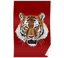 Tiger (Red) Poster