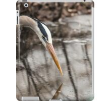 Great Blue Heron hunting iPad Case/Skin