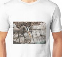 Great Blue Heron hunting Unisex T-Shirt