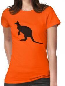 Kangaroo Silhouette  Womens Fitted T-Shirt
