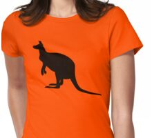 Kangaroo Silhouette  Womens Fitted T-Shirt