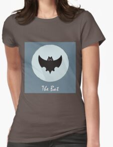 The Bat Cute Portrait Womens Fitted T-Shirt