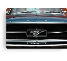 Mustang Grille Canvas Print