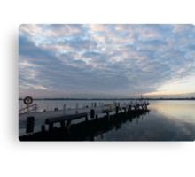 Morning Jetty - A Luminous Daybreak On The Waterfront Canvas Print