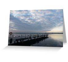 Morning Jetty - A Luminous Daybreak On The Waterfront Greeting Card