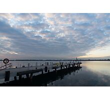 Morning Jetty - A Luminous Daybreak On The Waterfront Photographic Print