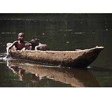 River Kids Photographic Print