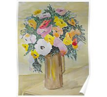 A Vase of Flowers. Poster