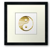 Faux Gold Yin Yang Symbol 2 Framed Print