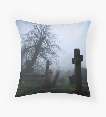 Bleak Cross Throw Pillow