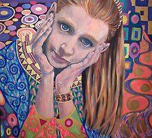 'Lydia' - inspired by Klimt by kshillaker