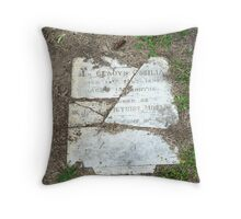 Broken Headstone Throw Pillow