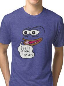 Feels Good Man Pepe the Frog Tri-blend T-Shirt