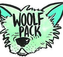 Woolf Pack Wolf Green by taliaAF