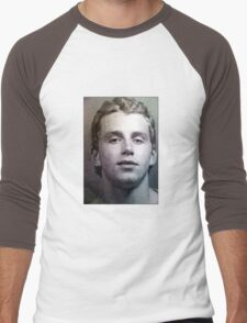 Patrick Kane Mugshot Men's Baseball ¾ T-Shirt