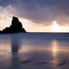 Talisker Bay sunset by Christopher Cullen