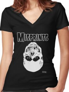 The Misprints Women's Fitted V-Neck T-Shirt
