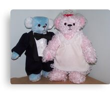 Bride and Groom Bears Canvas Print