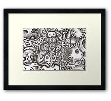 Escapees from the mind Framed Print