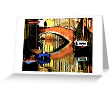 VENICE-LIVING ON A MIRROR Greeting Card