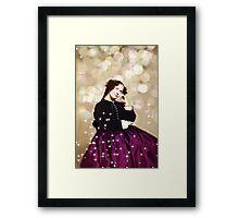 Vintage Civil War Woman in Purple Framed Print