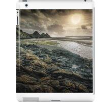 Moody Three Cliffs Bay Gower iPad Case/Skin