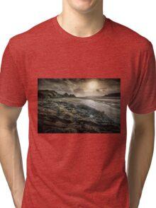 Moody Three Cliffs Bay Gower Tri-blend T-Shirt