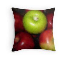 An Apple A Day Textured Throw Pillow
