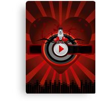 Red music background Canvas Print