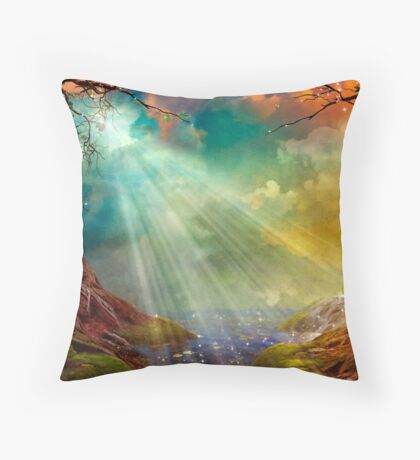 The Secret Grotto Throw Pillow