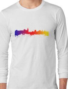 Dublin City Skyline Silhouette Long Sleeve T-Shirt