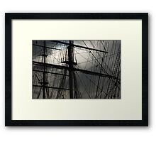 Cutty Sark Masts and Rigging Framed Print