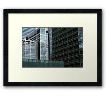 London Docklands Skyscrapers Framed Print