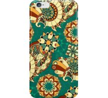 Floral mechanism seamless pattern iPhone Case/Skin