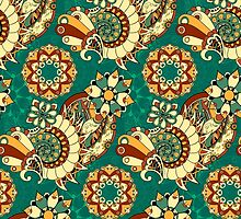 Floral mechanism seamless pattern by AndrewBzh