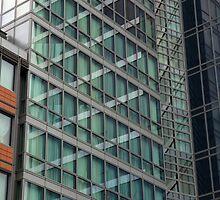 London Docklands Windows by Roberto Herrett