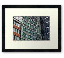 London Docklands Windows Framed Print