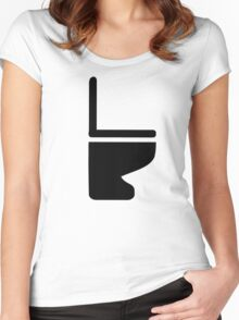 Toilet Women's Fitted Scoop T-Shirt