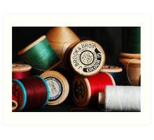Reels of cotton Art Print