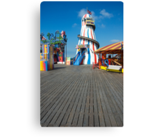 Brighton Pier Funfair Canvas Print