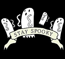 'Stay Spooky' ghost banner black design  by iseeyrcutedecor