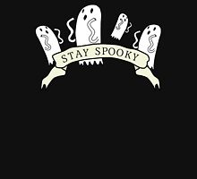 'Stay Spooky' ghost banner black design  Unisex T-Shirt