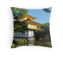 The Golden Pavillion Throw Pillow
