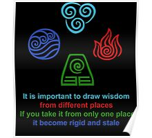 It is important to draw wisdom from different places Poster