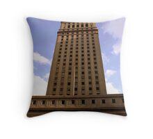 tall building Throw Pillow